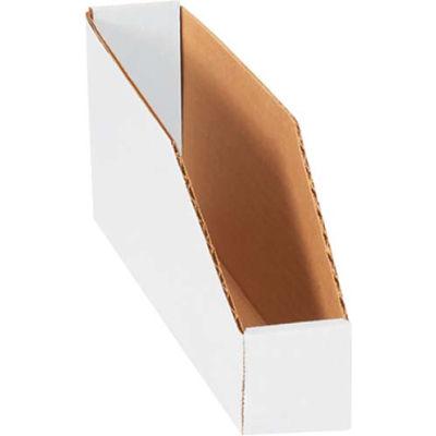 """2"""" x 12"""" x 4-1/2"""" Open Top White Corrugated Bin Box - Pkg Qty 50"""