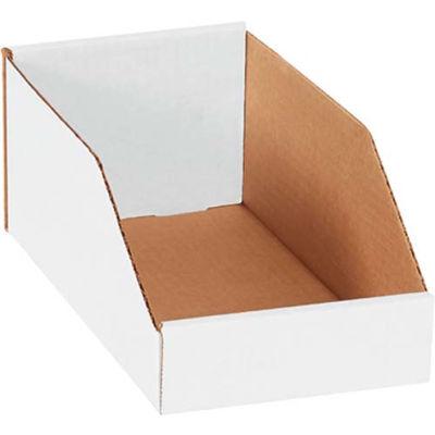 """6"""" x 12"""" x 4-1/2"""" Open Top White Corrugated Bin Box - Pkg Qty 50"""