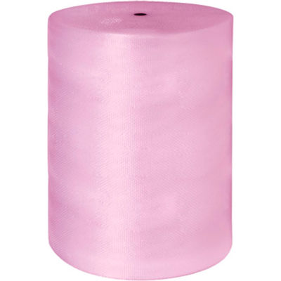 """Anti-Static Bubble Roll 48"""" x 250' x 1/2"""", Perforated, Pink, 1 Roll"""