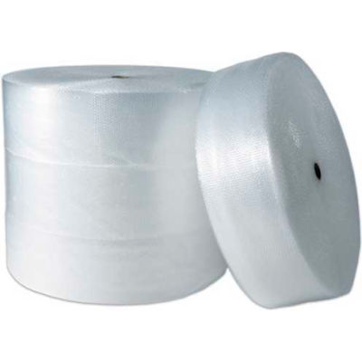 """Perforated Air Bubble Roll, 12""""W x 250'L x 1/2"""" Thick, Clear, 4/Pack"""