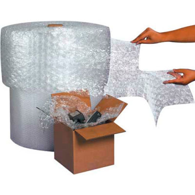 """Air Bubble Rolls 16"""" x 250' x 1/2"""", Perforated, Clear, 3/PACK"""