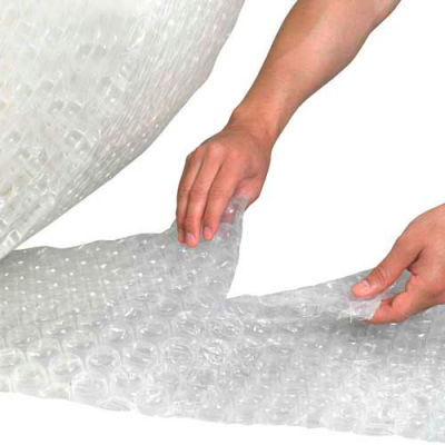 """Heavy Duty Air Bubble Roll 48"""" x 250' x 1/2"""", Perforated, Clear, 1 Roll"""