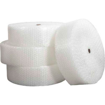 """Heavy Duty Bubble Rolls 24"""" x 250' x 1/2"""", Non-Perforated, Clear, 4/PACK"""