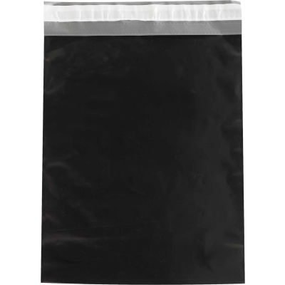 "Colored Poly Mailers 12"" x 15-1/2"", 2.5 Mil Black, 100 Pack"