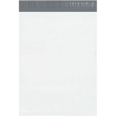 "Expansion Poly Mailers 15"" x 20"" x 4"", 2.5 Mil White, 100 Pack"