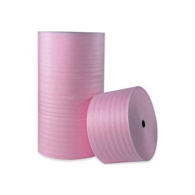 "Anti-Static Air Foam Rolls 18""W x 250'L, 1/4"" Thickness, Pink, 4 Rolls"