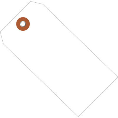 "Plastic Shipping Tag 4-3/4"" x 2-3/8"" White - 100 Pack"