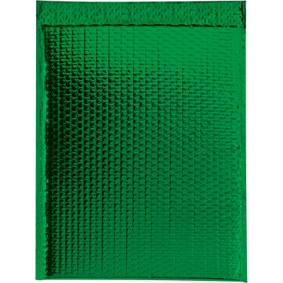 """Glamour Bubble Mailers 16"""" x 17-1/2"""" Green, 48 Pack"""