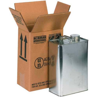 """One - 1 Gallon F-Style Haz Mat Boxes, 6-3/4"""" x 4-5/16"""" x 10-3/8"""", 20/Pack"""