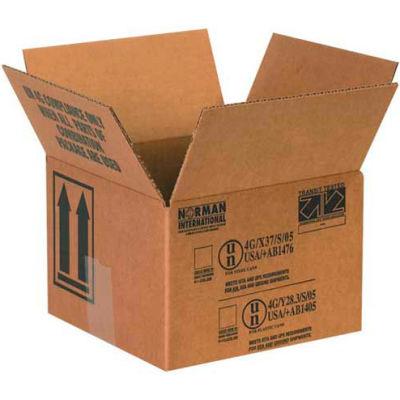 "One - 1 Quart Haz Mat Boxes, 5-1/8"" x 5-1/8"" x 6-3/16"", 25/Pack"