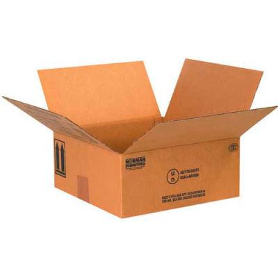 """Four - 1 Quart Haz Mat Boxes, 10-1/4"""" x 10-1/4"""" x 6-3/16"""", 25/Pack"""