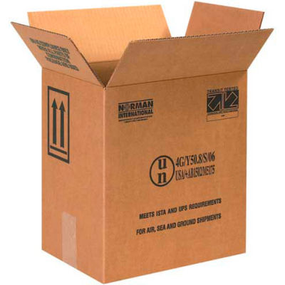 "One - 1 Gallon F-Style Haz Mat Boxes, 11-3/8"" x 8-3/16"" x 12-3/8"", 20/Pack"