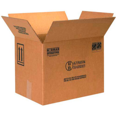 "Four - 1 Gallon F-Style Haz Mat Boxes, 16-3/8"" x 11-3/8"" x 12-3/8"", 10/Pack"