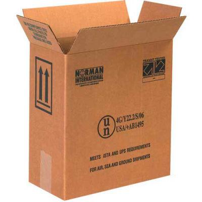 "Two - 1 Gallon Plastic Jug Haz Mat Boxes, 12"" x 6"" x 12-3/4"", 20/Pack"
