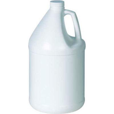1 Gallon Plastic Jug, White, 48/Pack