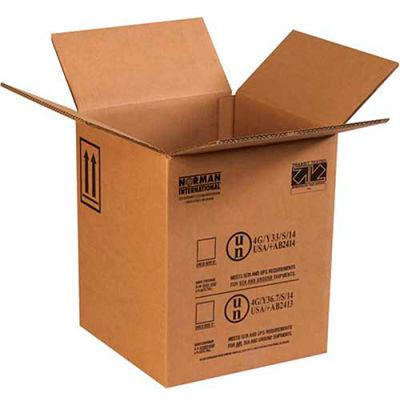 """One - 5 Gallon Plastic Pail Haz Mat Boxes, 12-1/2"""" x 12-1/2"""" x 15-1/8"""", 10/Pack"""