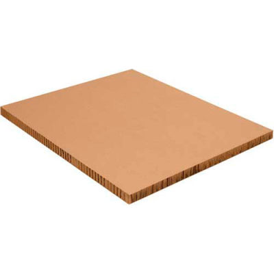 "Honeycomb Pallet Sheets 48"" x 96"" x 2"" Kraft, 20 Pack"