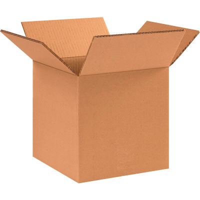 "Heavy-Duty Double Wall Cardboard Corrugated Boxes 10"" x 10"" x 10"" 275#/ECT-48 - Pkg Qty 15"