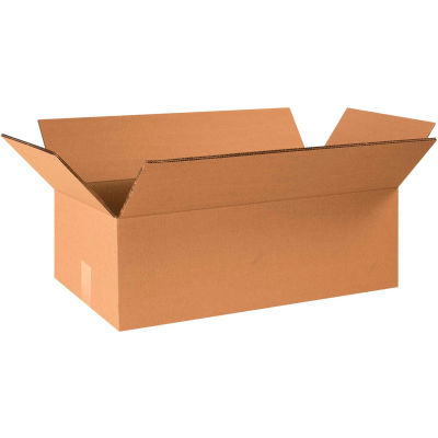 "Heavy-Duty Double Wall Cardboard Corrugated Boxes 24"" x 12"" x 8"" 275#/ECT-48 - Pkg Qty 15"