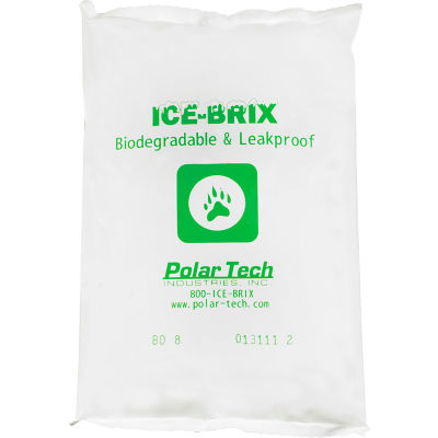 "Ice-Brix™ 8 oz. Biodegradable Packs - 6"" x 4"" x 3/4"", 72/Case"