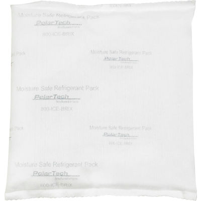 "Tech Pack™ 12 oz. Moisture Safe Cold Packs - 6"" x 6"" x 1"", 48/Case"