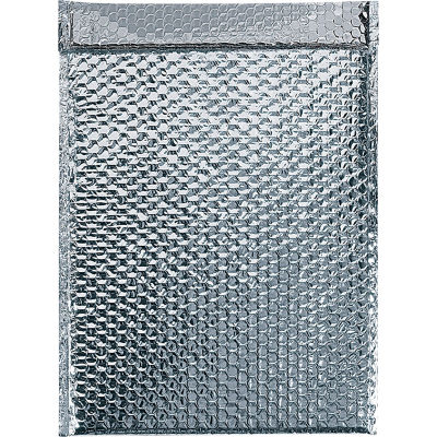 "Cool Shield Thermal Bubble Mailers 11"" x 15"" Silver, 50 Pack"