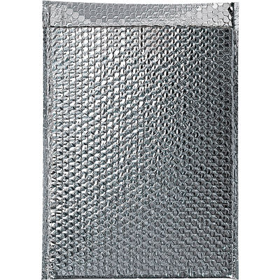 """Cool Shield Thermal Bubble Mailers 12"""" x 17"""" Silver, 50 Pack"""