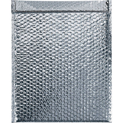 "Cool Shield Thermal Bubble Mailers 18"" x 22"" Silver, 50 Pack"