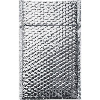 """Cool Shield Thermal Bubble Mailers 6-1/2"""" x 10-1/2"""" Silver, 100 Pack"""