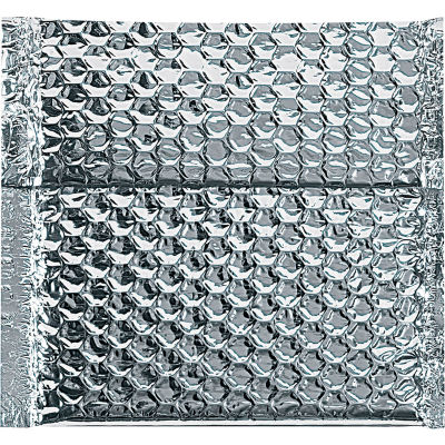 "Cool Shield Thermal Bubble Mailers 6"" x 6-1/2"" Silver, 100 Pack"