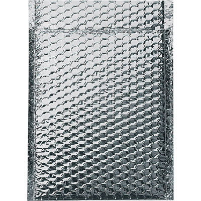 """Cool Shield Thermal Bubble Mailers 8"""" x 11"""" Silver, 100 Pack"""