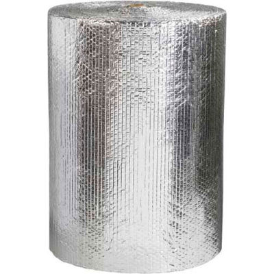 """Cool Shield Thermal Bubble Roll, 24""""W x 125'L x 3/16"""" Thick, Silver"""