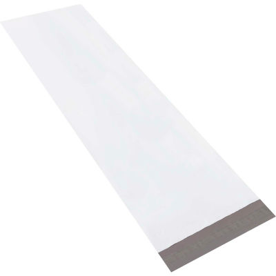 "Long Poly Mailers 13"" x 45"" 4 Mil White, 50 Pack"