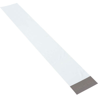 """Long Poly Mailers 6"""" x 39"""" 4 Mil White, 100 Pack"""
