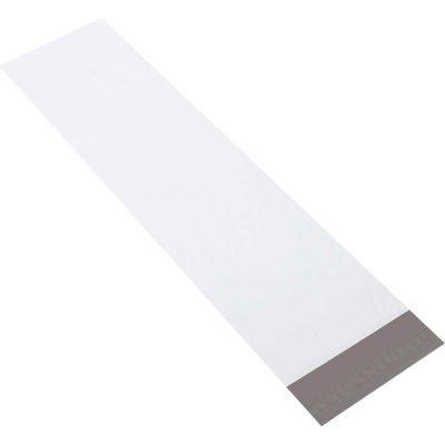 "Long Poly Mailers 8-1/2"" x 33"" 4 Mil White, 100 Pack"