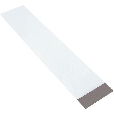"Long Poly Mailers 8-1/2"" x 39"" 4 Mil White, 100 Pack"