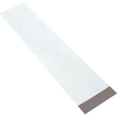 "Long Poly Mailers 9-1/2"" x 45"" 4 Mil White, 50 Pack"