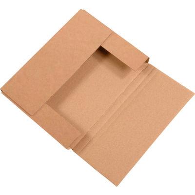 "Easy-Fold Corrugated Mailers 11-1/8"" x 8-5/8"" x 1"" 200#/ECT-32 Kraft - Pkg Qty 50"
