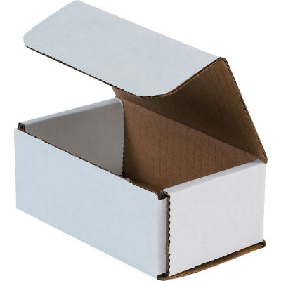 """Corrugated Mailers 5"""" x 3"""" x 2"""" 200#/ECT-32 White - Pkg Qty 50"""