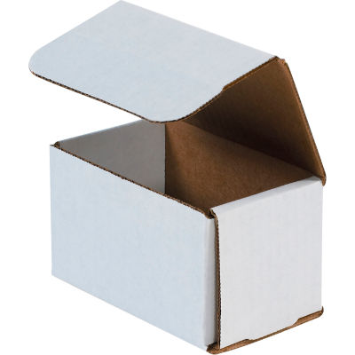 """Corrugated Mailers 5"""" x 3"""" x 3"""" 200#/ECT-32 White - Pkg Qty 50"""
