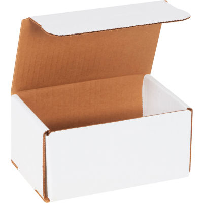 """Corrugated Mailers 6"""" x 4"""" x 3"""" 200#/ECT-32 White - Pkg Qty 50"""