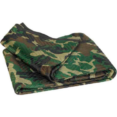 """Moving Blankets 72"""" x 80"""" Camouflage, 6 Pack"""