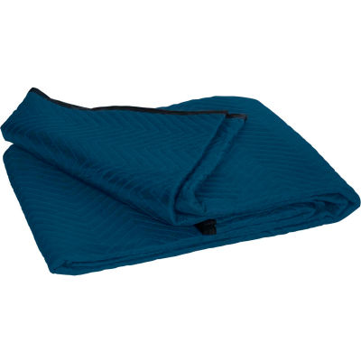 """Standard Moving Blankets 72"""" x 80"""" Blue, 6 Pack"""