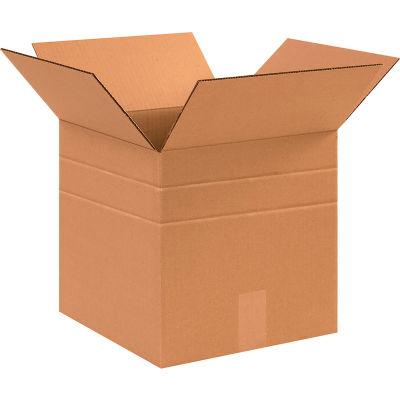 "Multi-Depth Cardboard Corrugated Boxes 12"" x 12"" x 12"" 200#/ECT-32 - Pkg Qty 25"