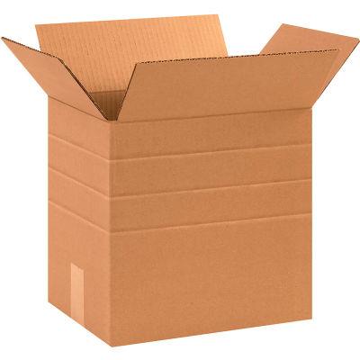 "Multi-Depth Cardboard Corrugated Boxes 13-1/4"" x 10-1/4"" x 12"" 200#/ECT-32 - Pkg Qty 25"
