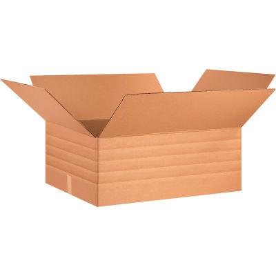 "Multi-Depth Cardboard Corrugated Boxes 30"" x 24"" x 12"" 200#/ECT-32 - Pkg Qty 15"