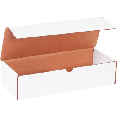 "Corrugated Literature Mailers 12-1/2"" x 5"" x 3"" 200#/ECT-32 White - Pkg Qty 50"