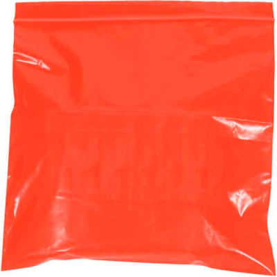 "Reclosable Bags 4"" x 6"" 2 Mil Red 1000 Pack"