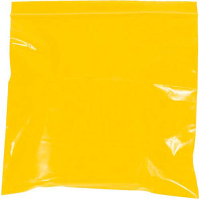 """Reclosable Bags 5"""" x 8"""" 2 Mil Yellow 1000 Pack"""