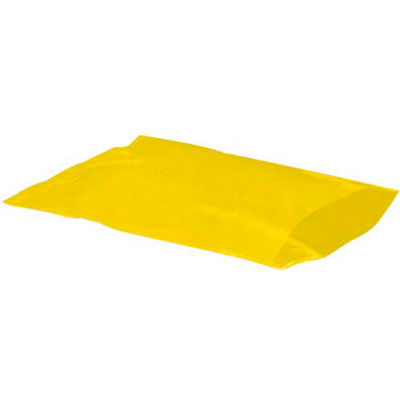 """Flat Poly Bags 12"""" x 15"""" 2 Mil Yellow 1,000 Pack"""
